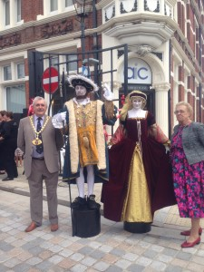 The Mayor and the Tudors added to the excitement of the day as the Old Town Hemel Hempstead relaunched on the same day.