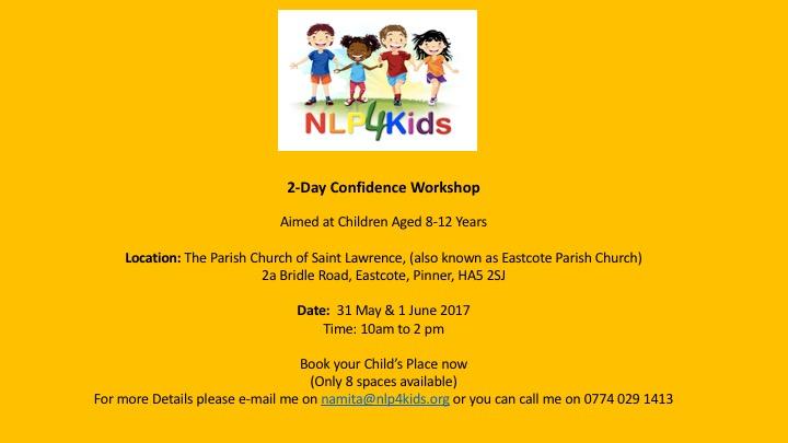 2 Day Confidence Workshop for Children